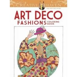 Creative Haven Art Deco Fashions Coloring Book